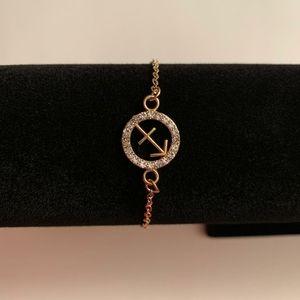 Jewelry - Gold color zodiac sing Sagittarius cut out bracele